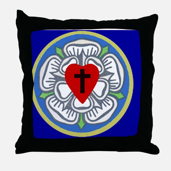 Luther Seal 2 License Plate Throw Pillow