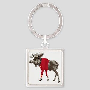 Moose-Trek Square Keychain