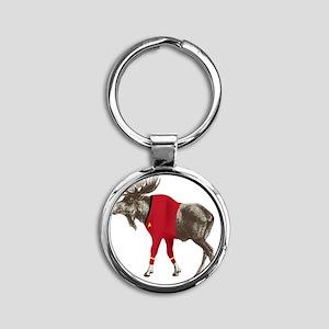 Moose-Trek Round Keychain