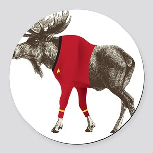 Moose-Trek Round Car Magnet