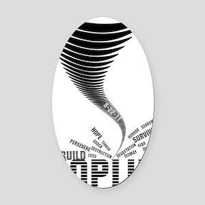 tornado_black Oval Car Magnet