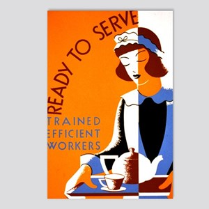 Ready to Serve Postcards (Package of 8)