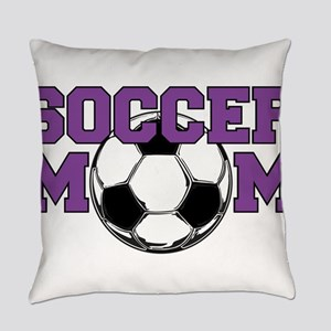 SOCCER Mom in Purple Everyday Pillow