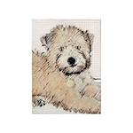 Wheaten Terrier Puppy 5'x7'Area Rug