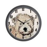 Wheaten Terrier Puppy Wall Clock