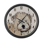Wheaten Terrier Puppy Large Wall Clock