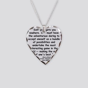 Fosdick Best Quote Necklace Heart Charm