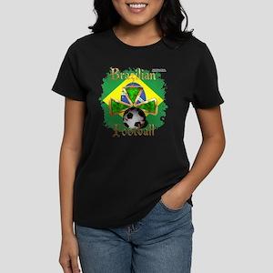 Brazil Football Spice Women's Dark T-Shirt