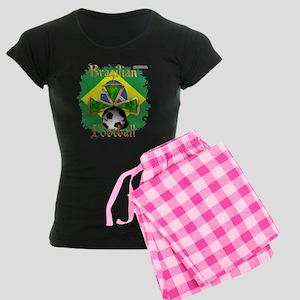 Brazil Football Spice Women's Dark Pajamas