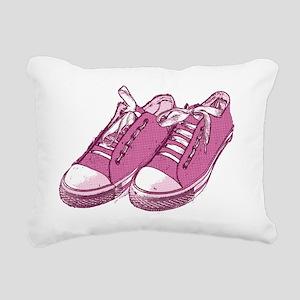 sneaker_pink10x7 Rectangular Canvas Pillow