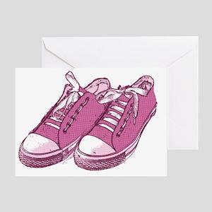 Vintage shoe greeting cards cafepress sneakerpink10x7 greeting card m4hsunfo