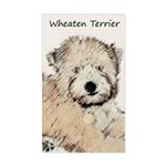 Wheaten Terrier Puppy Sticker (Rectangle)