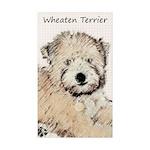 Wheaten Terrier Puppy Sticker (Rectangle 10 pk)