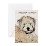 Wheaten Terrier Puppy Greeting Card