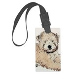 Wheaten Terrier Puppy Large Luggage Tag