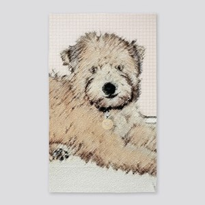 Wheaten Terrier Puppy Area Rug