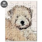 Wheaten Terrier Puppy Puzzle