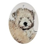 Wheaten Terrier Puppy Oval Ornament