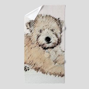 Wheaten Terrier Puppy Beach Towel