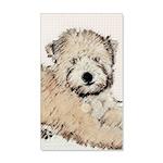Wheaten Terrier Puppy 35x21 Wall Decal