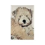 Wheaten Terrier Puppy Rectangle Magnet