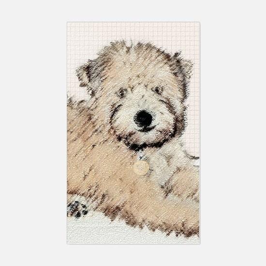 Wheaten Terrier Puppy Sticker (Rectangle)