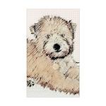 Wheaten Terrier Puppy Sticker (Rectangle 50 pk)