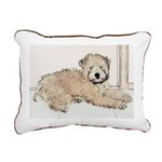 Wheaten Terrier Puppy Rectangular Canvas Pillow