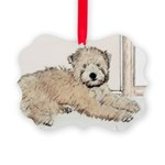 Wheaten Terrier Puppy Picture Ornament