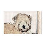 Wheaten Terrier Puppy 20x12 Wall Decal