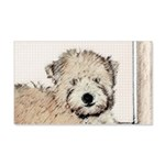 Wheaten Terrier Puppy 20x12 Wall Decal