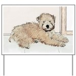 Wheaten Terrier Puppy Yard Sign