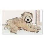 Wheaten Terrier Puppy Sticker (Rectangle 50 pk)