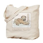 Wheaten Terrier Puppy Tote Bag