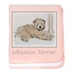 Wheaten Terrier Puppy baby blanket