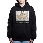 Wheaten Terrier Puppy Women's Hooded Sweatshirt