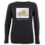 Wheaten Terrier Puppy Plus Size Long Sleeve Tee