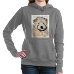 Wheaten Terrier Puppy Women's Hooded Sweatshirt