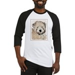Wheaten Terrier Puppy Baseball Tee