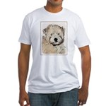 Wheaten Terrier Puppy Fitted T-Shirt