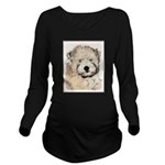 Wheaten Terrier Pupp Long Sleeve Maternity T-Shirt