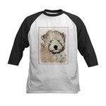 Wheaten Terrier Puppy Kids Baseball Tee