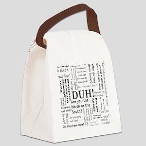 Stupid reenacting questions mug Canvas Lunch Bag