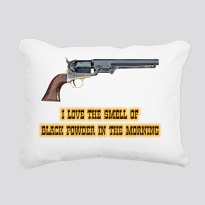 blackpowder Rectangular Canvas Pillow