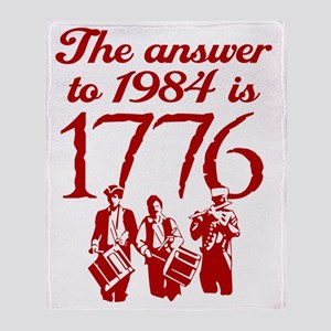 1776-blk Throw Blanket