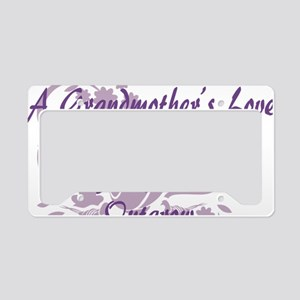 Grandmother Love License Plate Holder