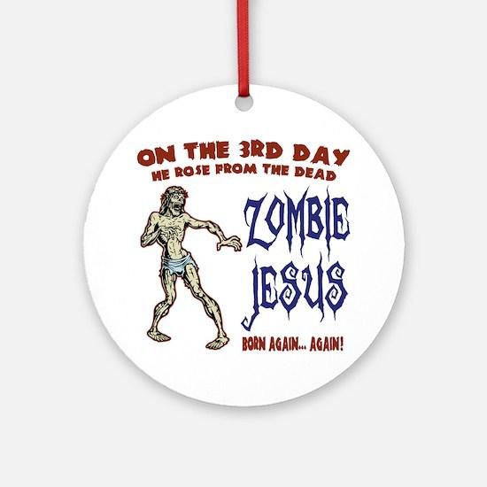 zombie-jesus-LTT Round Ornament