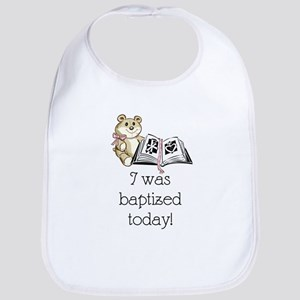 I was baptized today! (girl) Bib