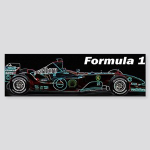 Formula1 Neon Car Sticker (Bumper)