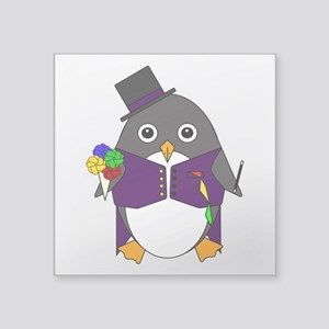 "Magicguin Square Sticker 3"" x 3"""